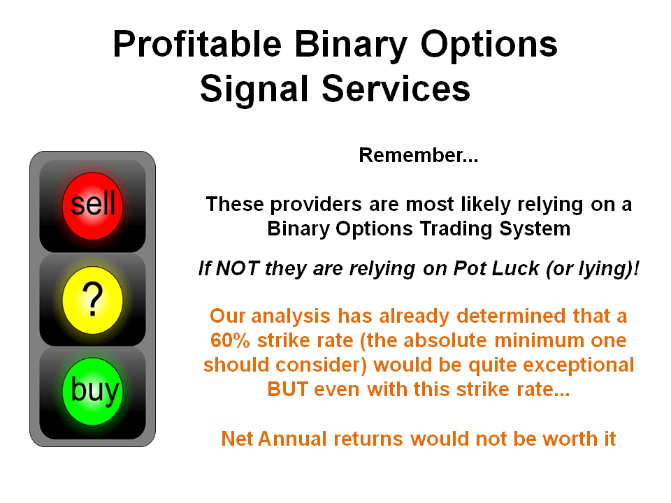 Binary options signal program