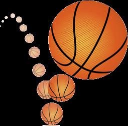 Bouncing Basket Ball Transparent