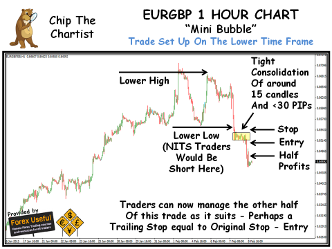Chip The Chartist - 2013-02-10 - EURGBP 1 Hour Chart