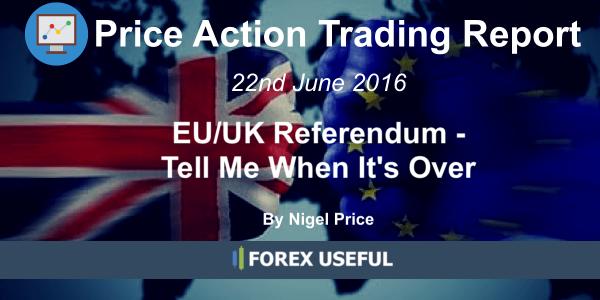 Price Action Trading Report EUUK Referendum