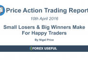Price Action Trading Report - Small Losers And Big Winners Make For Happy Traders 10-Apr-2016