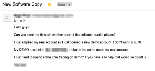 email regarding bust forex account